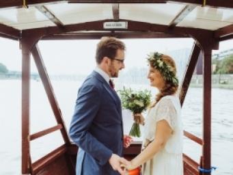 Klementyna & Alain - wesele na barce w Krakowie
